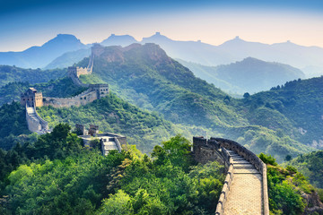 Spoed Fotobehang Peking The Great Wall of China