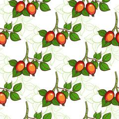 Dog-rose Seamless Pattern