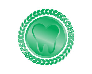 green tooth teeth dental dentist dent image icon