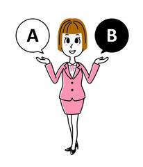 ビジネスウーマン|選択、提案