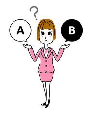 ビジネスウーマン|選択で悩む