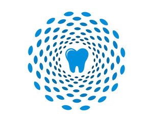 blue ornament tooth teeth dent dental dentist image icon