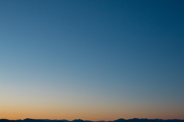 東京の空と山2
