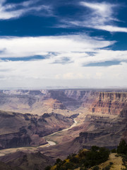 Overlooking the Grand Canyon National Park and Colorado River from the South Rim