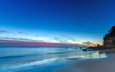 Blue Vibrant Dawn Seascape