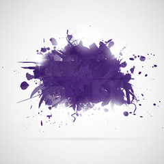 Abstract background with violet paint splashes.