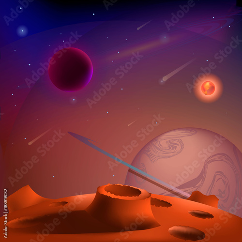 Vector Realistic And Futuristic Space Background