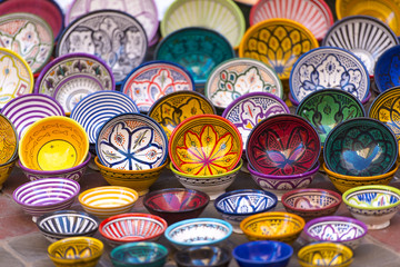 Garden Poster Morocco Traditional Moroccan market with souvenirs