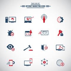 Internet Marketing Icons Set