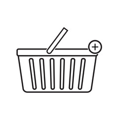 Add to shopping basket icon vector illustration. Free Royalty Images.