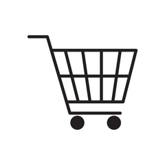 Shopping cart icon vector illustration. Free Royalty Images.