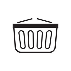 Shopping basket icon vector illustration. Free Royalty Images.