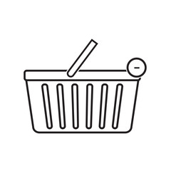Remove from shopping basket icon vector illustration. Free Royalty Images.