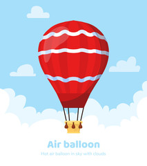 Flat hot air balloon