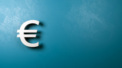 Euro Currency Symbol Shape Against Wall