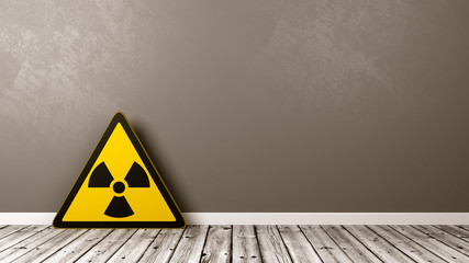 Radiation Hazard Symbol in a Room