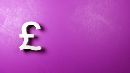 Pound British Currency Sign Against Wall