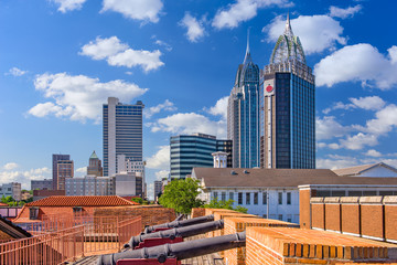 Mobile, Alabama, USA Skyline