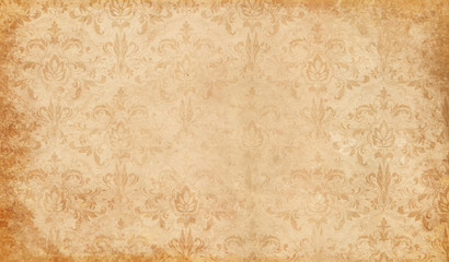 Old paper with floral patterns background.