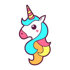 Unicorn icon or logo design
