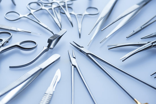 Blue surgical tools