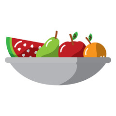 fruit bowl icon image vector illustration design