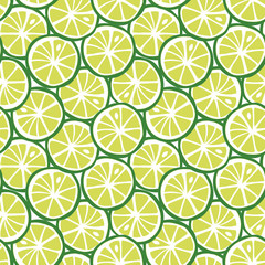 fruit green lime citrus tropical summer pattern seamless vector