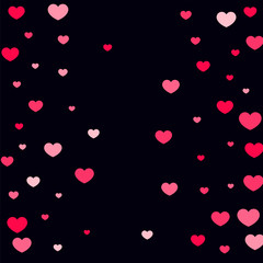 Heart confetti background.