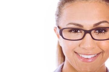 Charming model posing in eyeglasses