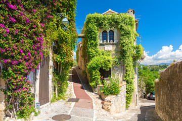 beautiful architecture in Saint Paul de Vence in Provence, south France