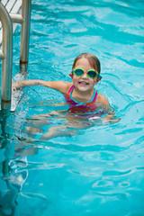 Little Girl In Swim Lessons