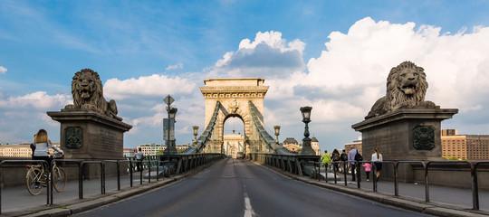 Budapeszt, Węgry, Most Łańcuchowy nad Dunajem