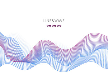 Wave abstract background. Vector eps10