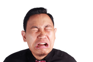 Funny Businessman Crying