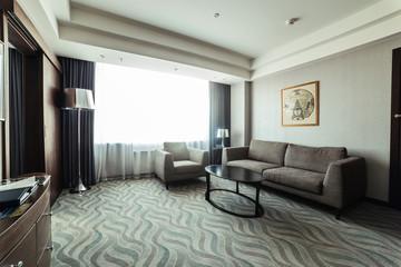 Cozy modern beautiful living room in hotel