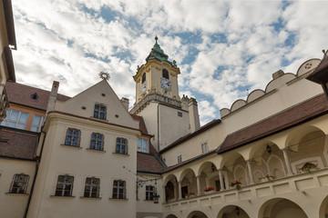 Primate palace courtyard in Bratislava, Slovakia