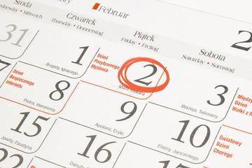 Kartka z kalendarza: Dzień pozytywnego myślenia.