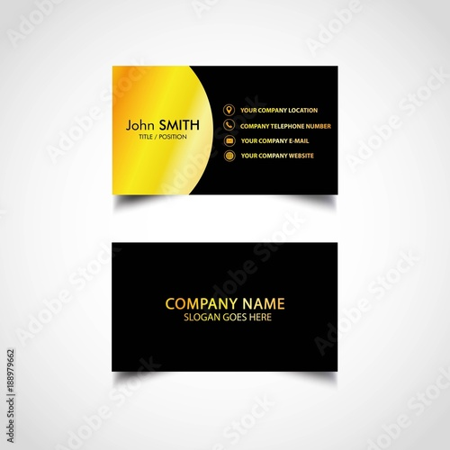 Golden business card template vector illustration eps file stock golden business card template vector illustration eps file friedricerecipe Choice Image