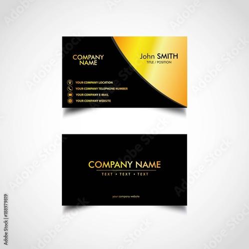 Golden business card template vector illustration eps file stock golden business card template vector illustration eps file cheaphphosting Gallery