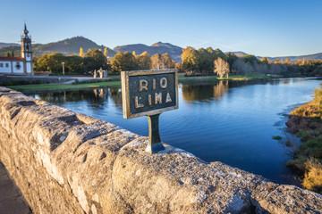 Roman bridge in Ponte de Lima, small town in historical Minho Province, Portugal