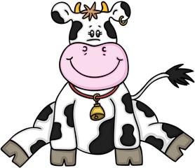 Cute cow sitting