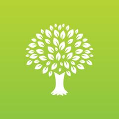 Leaf and tree logo design