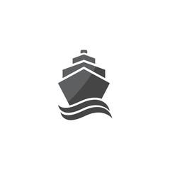 Ship and wave logo vector design