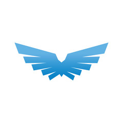 Birds and wings logo design vector