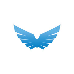 Birds and wings logo design vector