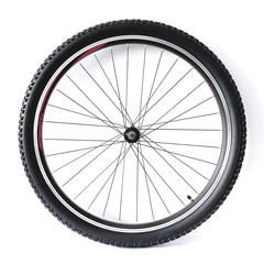 Black and alloy bicycle wheel