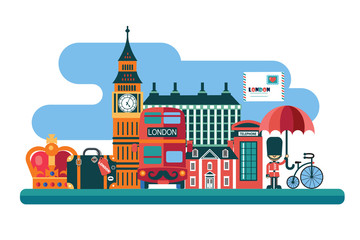 London vector illustration in flat style