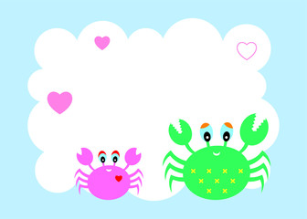 happy mother's day greeting card with crab graphic vector
