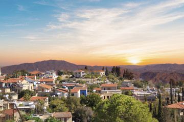 Beautiful view of the picturesque village of artisans Lefkara, Cyprus
