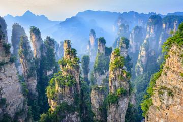 Landscape of Zhangjiajie. Located in Wulingyuan Scenic and Historic Interest Area (Wu Ling Yuan Feng Jing Ming Sheng Qu), Hunan, china.